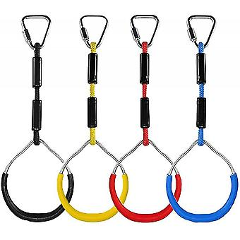 Gymnastic Rings For Kids, Pack Of 4, Children Swing Gym Rings With Load Capacity 150kg, Climbing Ring Playground Equipment For Garden, Outdoor