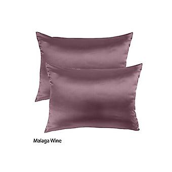 Royal Comfort Mulberry Soft Silk Hypoallergenic Pillowcase Twin Pack