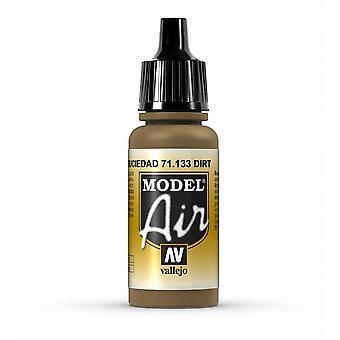 Vallejo Model Air 133 Dirt - Peinture acrylique à l'aérographe de 17 ml