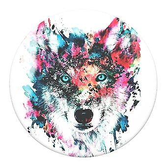 POPSOCKETS Wolf Abnehmbarer Griff mit Set-Funktion