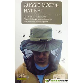 Mosquito hat net head protector bee bug mesh insect mozzie fishing fly - black awo03451