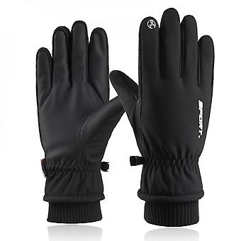 Men's And Women's Waterproof Touch Screen Gloves Warm And Windproof Ski Gloves