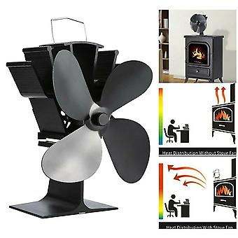 4 Blade Mini Stove Top Fan Kamin Holz Holz Holz Brennen Feuer Thermostat