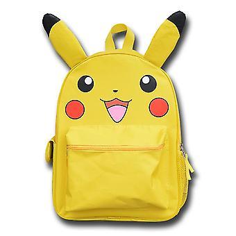 Yellow Cartoon Pika 16» Pouce Sac d'école sac à dos