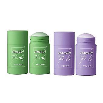 Qian Cleansing Green Tea Stick Mask Oil Control Anty-trądzikOwa pielęgnacja skóry z bakłażana