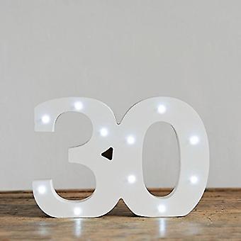 Lettre de LED - lumières Yesbox Lettre numéro 30