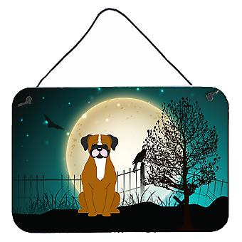 Halloween Scary Flashy Fawn Boxer Wall or Door Hanging Prints