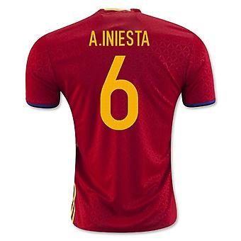 2016-2017 İspanya Ev Gömlek (A.Iniesta 6)
