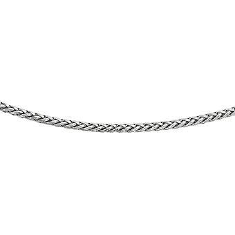 925 Sterling Sølv Rhodium 5.0mm Diam skåret Rnd Hvede Herre Chain Pære Pære Kjole halskæde smykker Gaver til mænd - Lengt