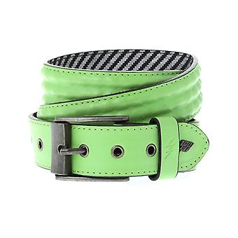Lowlife Cover Up Leather Belt in Neon Green