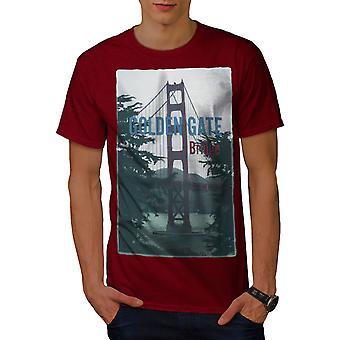 Golden Gate Urban City Men RedT-shirt | Wellcoda