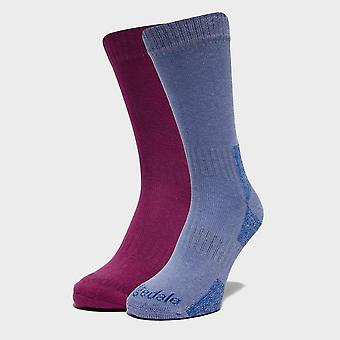 Nowe Purple Bridgedale Kobiety's Dingle Socks - 2 pary Multi