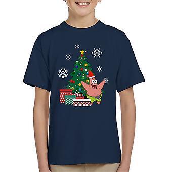 Patrick étoile autour T-Shirt de l'arbre de Noël Spongebob enfant
