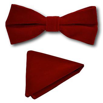 Papillon in velluto rosso lusso & Set Square Pocket