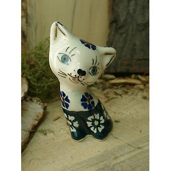 Gato, 8,5 cm, tradição 21, 2ª escolha, Bunzlau cerâmica, B.S.N, 5747