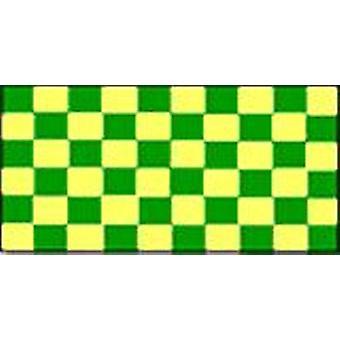 Controleer vlag groen en geel 5 ft x 3 ft met oogjes voor verkeerd-om