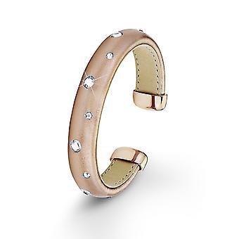 s.Oliver juvel damer armband rostfritt stål IP Rose läder SO1271/1 - 9110841