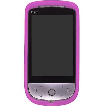 Solución inalámbrica - Funda de gel de silicona para HTC Hero (CDMA); PCD ADR6250 (Héroe) - Rosa Caliente