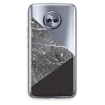 Motorola Moto X4 boîtier Transparent (doux) - combinaison de marbre