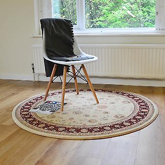 Szlachetny sztuka okrągłe tradycyjne dywany 6529 191 w beżowy czerwony