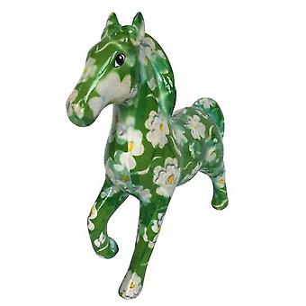 Banker Horse Lucky green with flowers