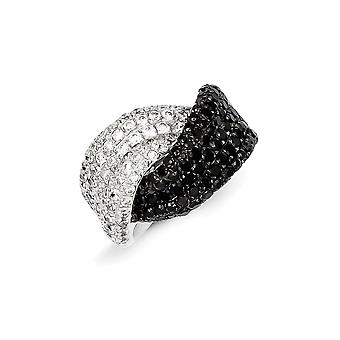 925 Sterling Silver and CZ Cubic Zirconia Simulated Diamond Ring Jewelry Gifts for Women - Ring Size: 6 to 8