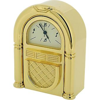 Gift Time Products Traditional Jukebox Miniature Clock - Gold