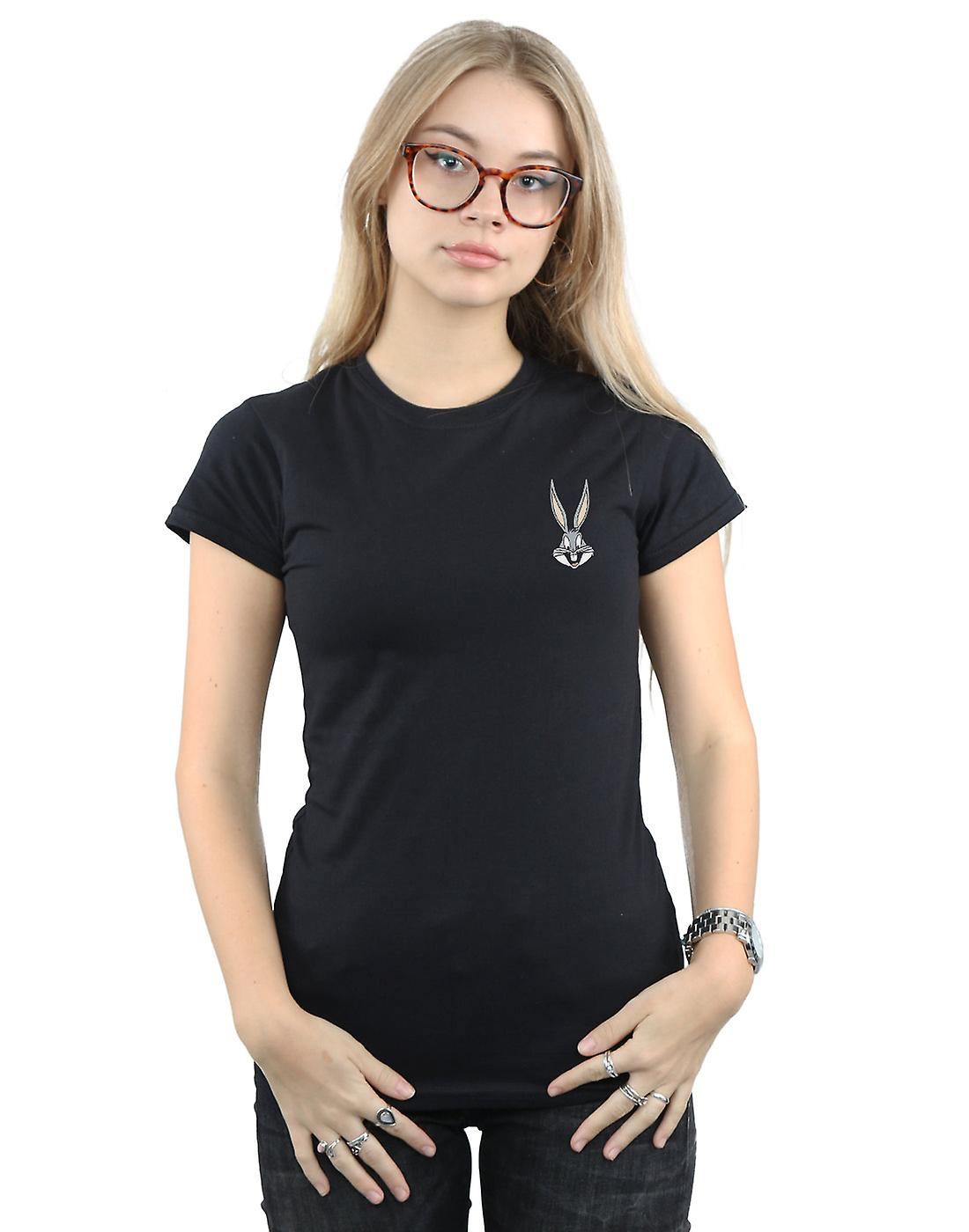 Looney Tunes Women's Bugs Bunny Breast Print T-Shirt