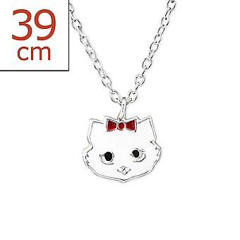 Cat - 925 Sterling Silver + Epoxy Colour Necklaces - W29841x