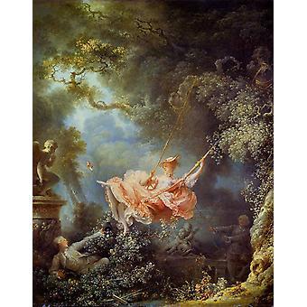 The Swing, Jean Honore Fragonard, 81x65cm