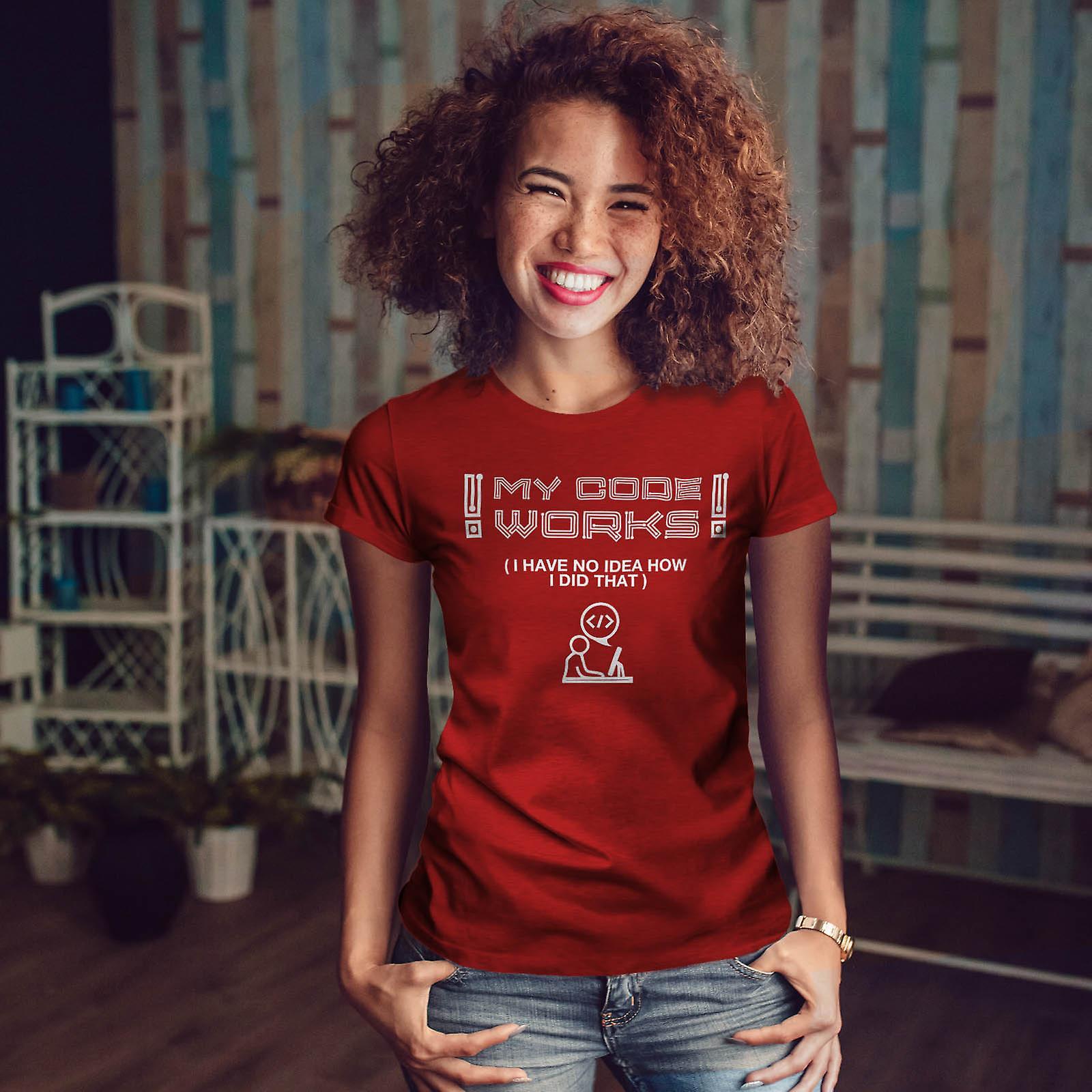 CE Code fonctionne RedT-chemise femme | Wellcoda