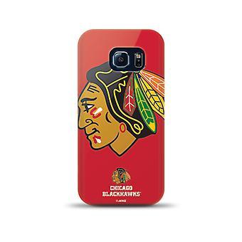 Mizco Sports NHL Oversized Snapback TPU Case for Samsung Galaxy S6 Edge (Chicago Blackhawks)