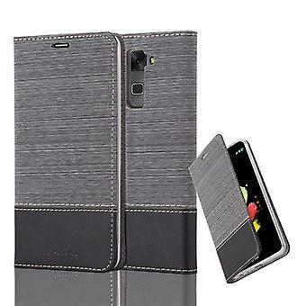Cadorabo fallet för LG STYLUS 2 fall Cover-telefon väska med magnetstängning, stand funktion och kort Case fack – Case täcker fall fall fall Bokvikning stil