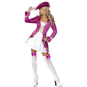 Fever Pirate's Treasure Costume, UK Dress 16-18