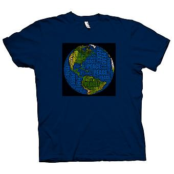 Kids T-shirt - Earth Peace Map