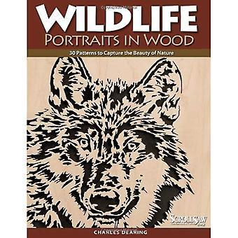 Portraits de la faune dans le bois: 30 modèles pour capturer la beauté de la Nature (travail du bois scie à chantourner & livre des métiers d'art)