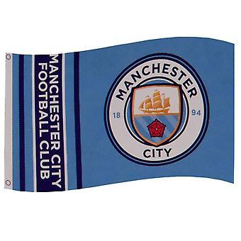 Manchester City FC Stripes Flag