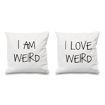 I Am Weird I Love Weird White Cushion Covers 16
