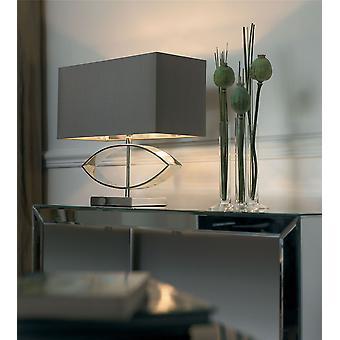 Candeeiro de mesa de prata placa incluindo sombra - Endon TRAMINI