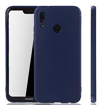 Huawei P20 Lite Handyhülle Schutzcase Backcover Tasche Hülle Case Etuis Blau