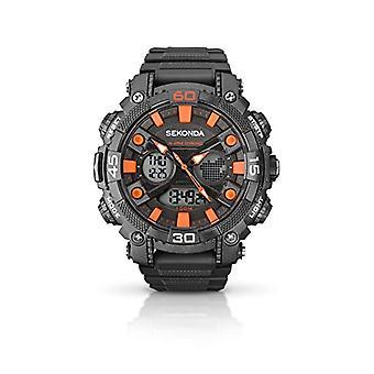Sekonda pols horloge, digitaal, mannelijk, kunststof, grijs