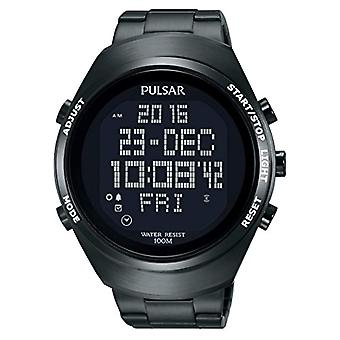Pulsar analog-digital Watch Unisex with metal plated stainless steel PQ2057X1