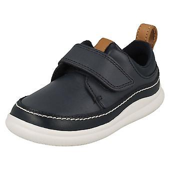 Boys Clarks Hook and Loop Fastening Shoes Cloud Ember