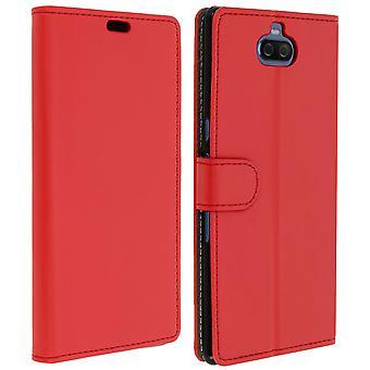 Slim Case, flip book cover, stojak na portfel dla Sony Xperia 10 Plus – Czerwony