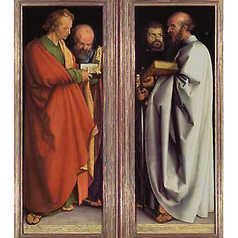 Die vier Heiligen Männer, Albrecht Durer, 50x44cm