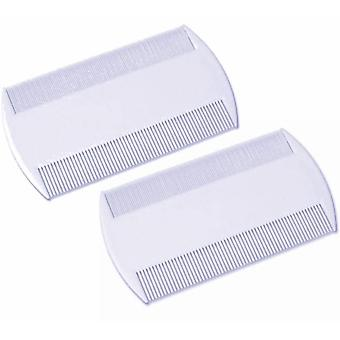 2x Head Nit Lice Comb Egg Remover Brush Double Sided for Kids, Pets, Erwachsene