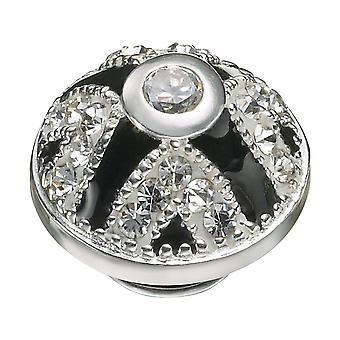 KAMELEON Crown Jewels White & Black Sterling Silver JewelPop KJP250