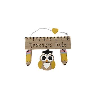 End Of Term Teachers Rule Hanging Plaque | Gifts Handpicked