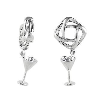 Storywheels Silver Martini Glass Dangle Charm S245