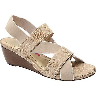 Ros Hommerson Womens Wynona Open Toe Ankle Strap Wedge Pumps